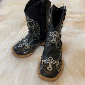 Blazin Roxx Infant Cross Wings Boots